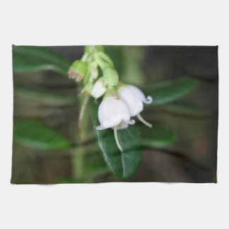 Flowers of a wild lingonberry (Vaccinium vitis-ide Tea Towel