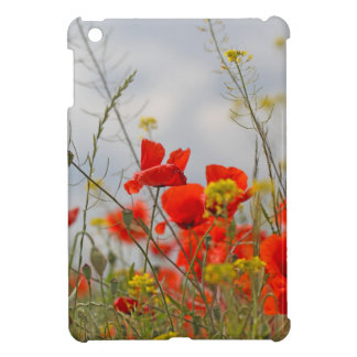 Flowers of common poppy in a field. iPad mini case