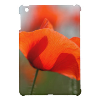 Flowers of common poppy in a field. iPad mini cover