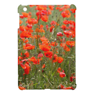Flowers of common poppy in a field. iPad mini covers