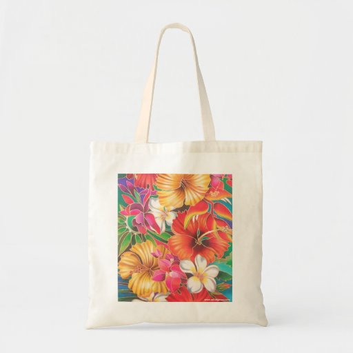 FLOWERS OF FIJI TOTE BAGS