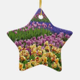 Flowers of love christmas tree ornament
