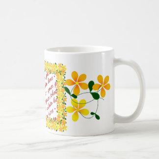 Flowers of Orange & Yellow Frame Coffee Mug