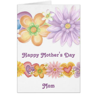 Flowers of Passion, Happy Mother's Day Mom Card