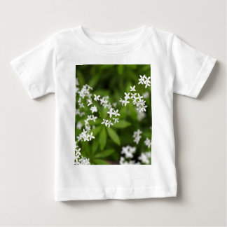 Flowers of sweetscented bedstraw (Galium odoratum) Baby T-Shirt