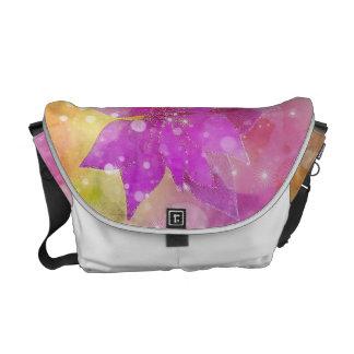 Flowers of winter commuter bag