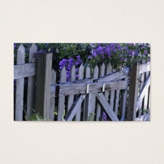flowers on a fence business card