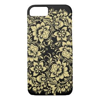 Flowers on Black iPhone 7 Case