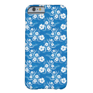 Flowers on Blue Barely There iPhone 6 Case