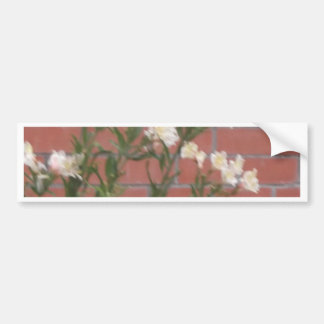 Flowers on Brick Bumper Sticker