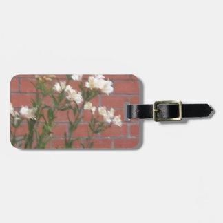 Flowers on Brick Luggage Tag