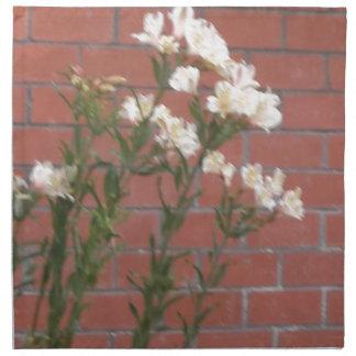 Flowers on Brick Napkin
