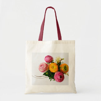 Flowers on Budget Tote Bag