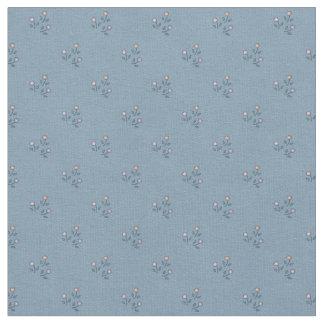 Flowers on Gray-Blue Pattern Fabric