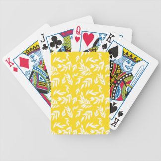Flowers on honey yellow bicycle playing cards