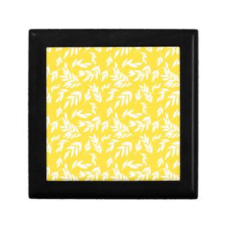 Flowers on honey yellow gift box