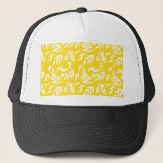 Flowers on honey yellow trucker hat