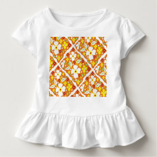 Flowers on Orange Toddler T-Shirt