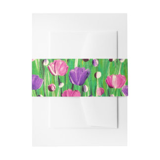 Flowers On Parade Invitation Belly Band