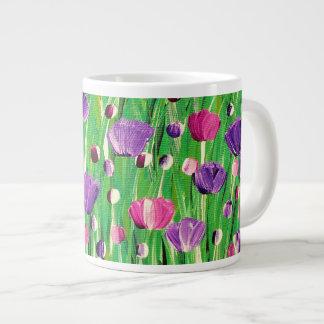 Flowers On Parade Large Coffee Mug