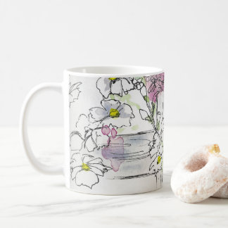 Flowers on Picket Fences Coffee Mug