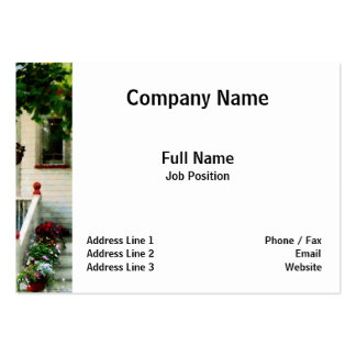 Flowers on Steps Business Cards