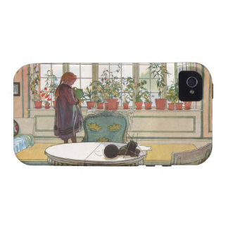 Flowers on the Windowsill by Carl Larsson Vibe iPhone 4 Cases