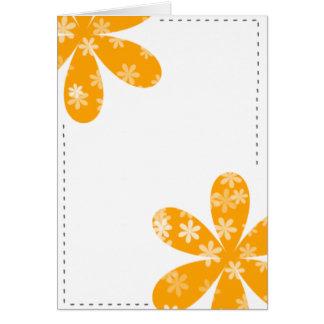 Flowers orange card
