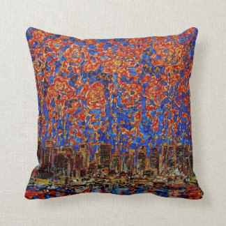 Flowers over the city New York American MoJo Pillo Pillows