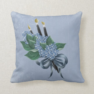 Flowers & Paintbrushes Cushion