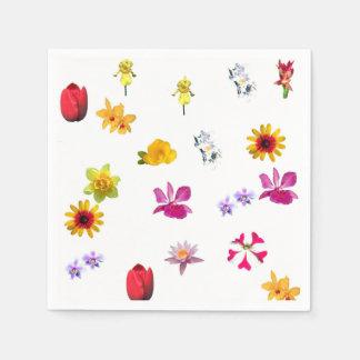 Flowers Paper Napkin