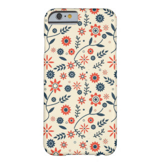 FLOWERS PATTERN BARELY THERE iPhone 6 CASE