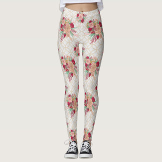 Flowers Pattern Leggings
