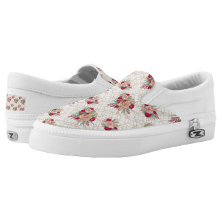 Flowers Pattern Slip-On Shoes