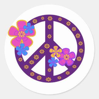 Flowers Peace Symbol Sticker