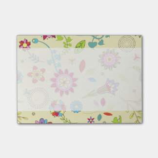 Flowers, Petals, Leaves - Red Pink Blue Yellow Post-it® Notes