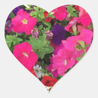 Flowers Photo Heart Sticker