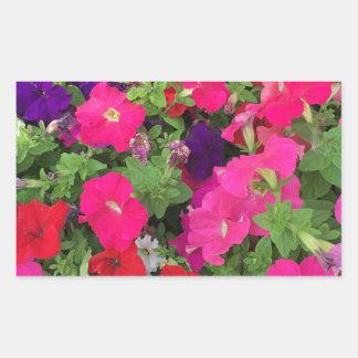 Flowers Photo Rectangular Sticker