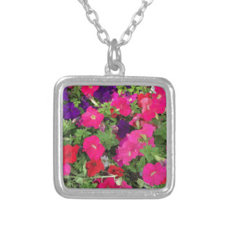 Flowers Photo Silver Plated Necklace
