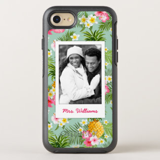 Flowers & Pineapple  Add Your Photo & Name OtterBox Symmetry iPhone 7 Case