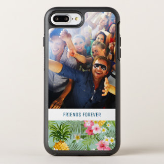 Flowers & Pineapples | Add Your Photo & Text OtterBox Symmetry iPhone 7 Plus Case