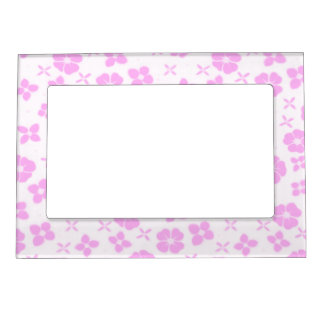Flowers- Pink Picture Frame Magnets