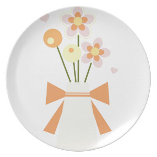 flowers plate