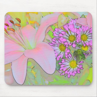 Flowers Pretty Colourful Mouse Pad