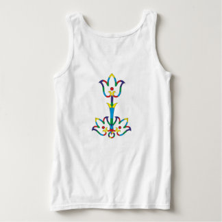 Flowers primary colors singlet