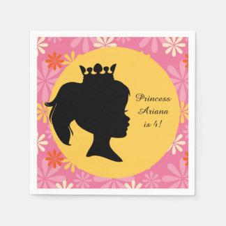 Flowers Princess Custom Birthday Paper Napkin