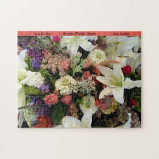 Flowers Puzzle Personalize Gift For Grandma Nature