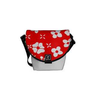 Flowers- Red 2 Courier Bags