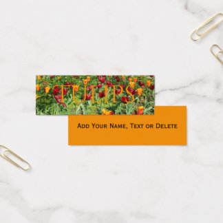 Flowers Red and Orange Tulips Floral Photography Mini Business Card