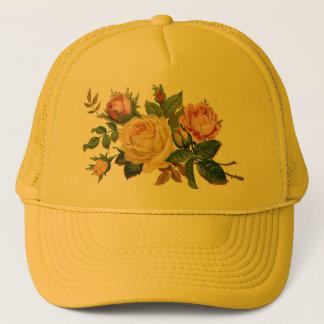 flowers,roses trucker hat